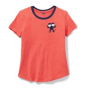 NWT Red Short Sleeve T-Shirt Top L(10-12)